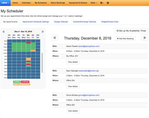 LibCal - Calendaring, Event Management, and Booking Platform For