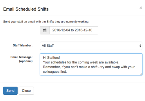 Receive Customized Email Notifications Containing Schedule Admin Notes And Detailed Shift